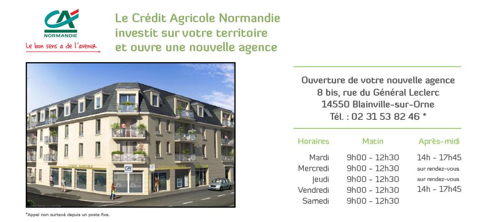 cr dit agricole normandie ouverture de l 39 agence blainville sur orne. Black Bedroom Furniture Sets. Home Design Ideas